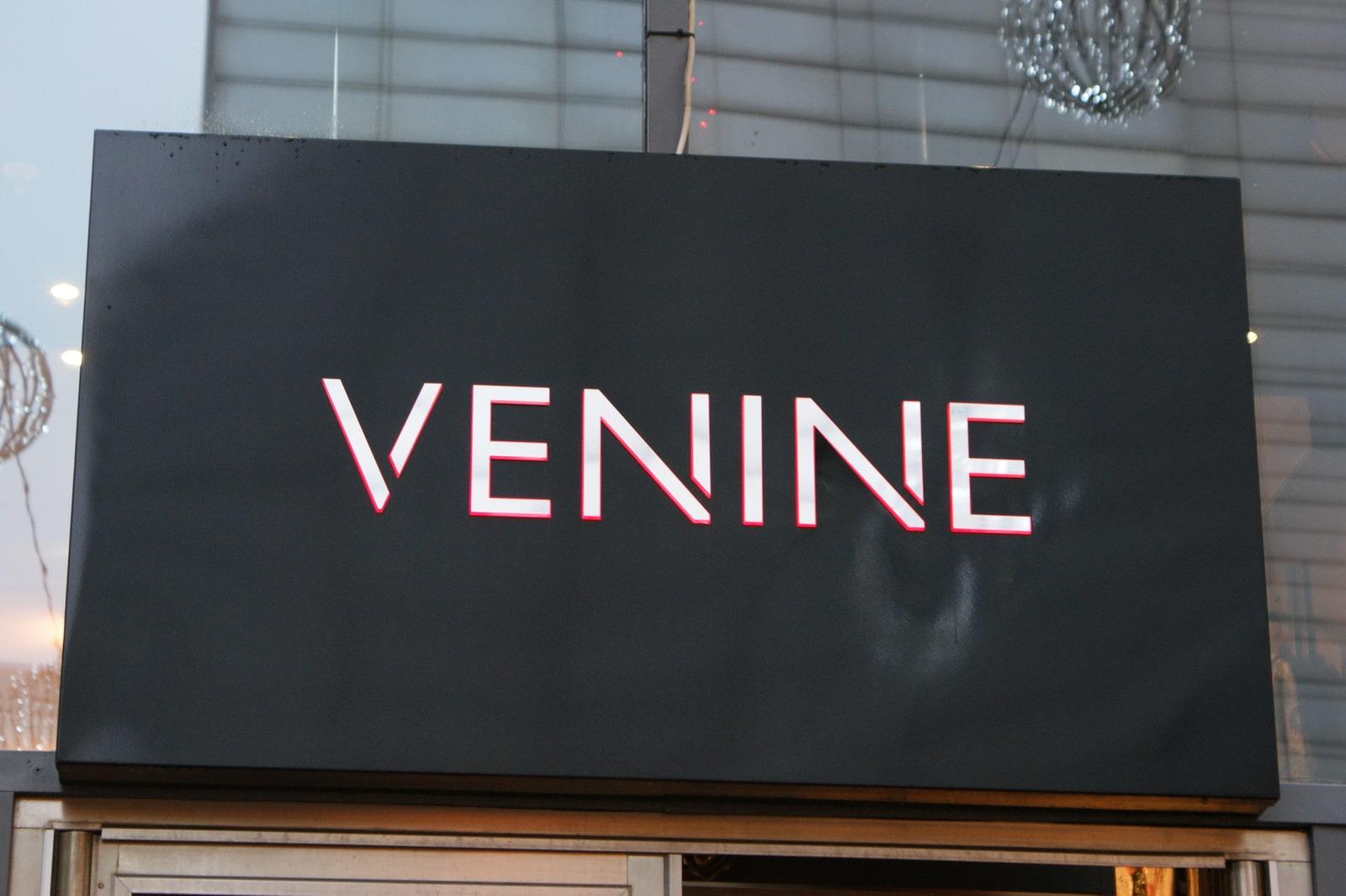 Световые буквы VENINE